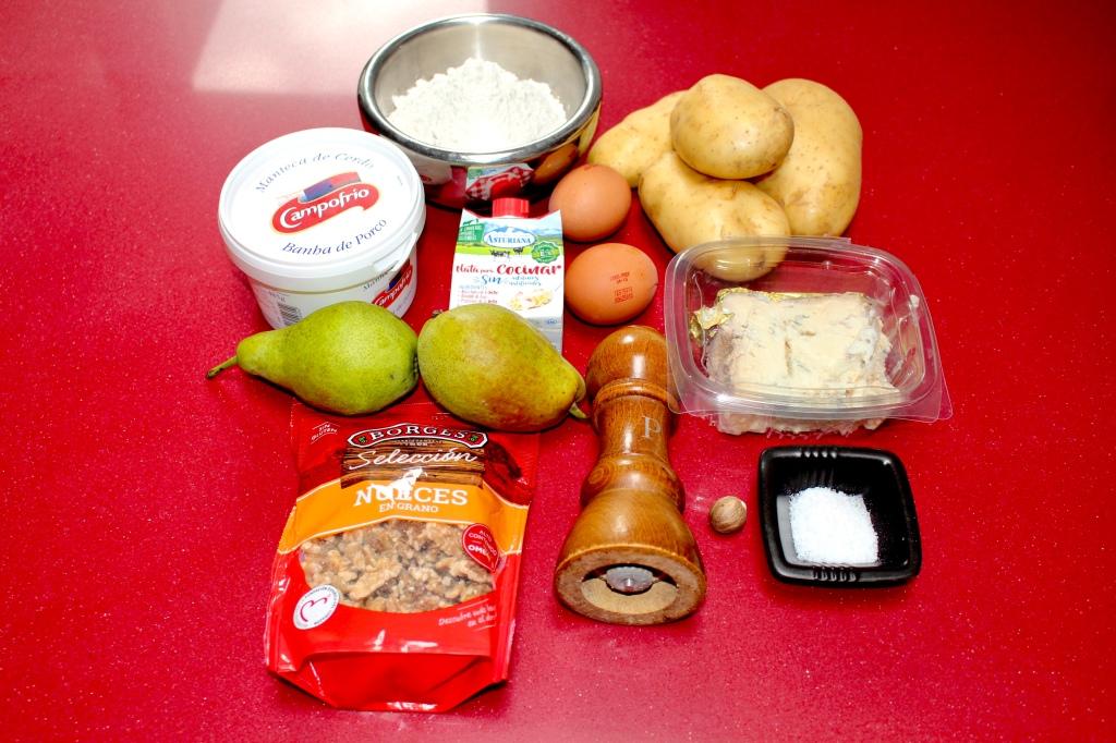 Gnocchis con Gorgonzola, Pera y Nueces
