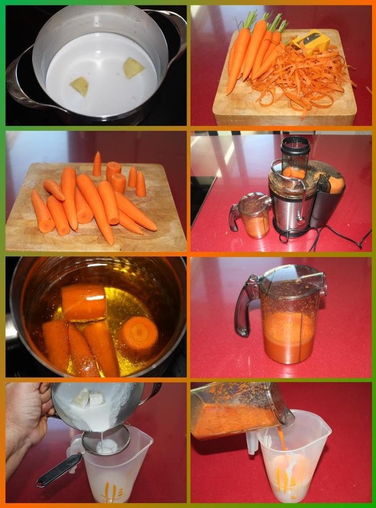 Sopa Fría de Zanahoria, Coco y Jengibre con Vieiras